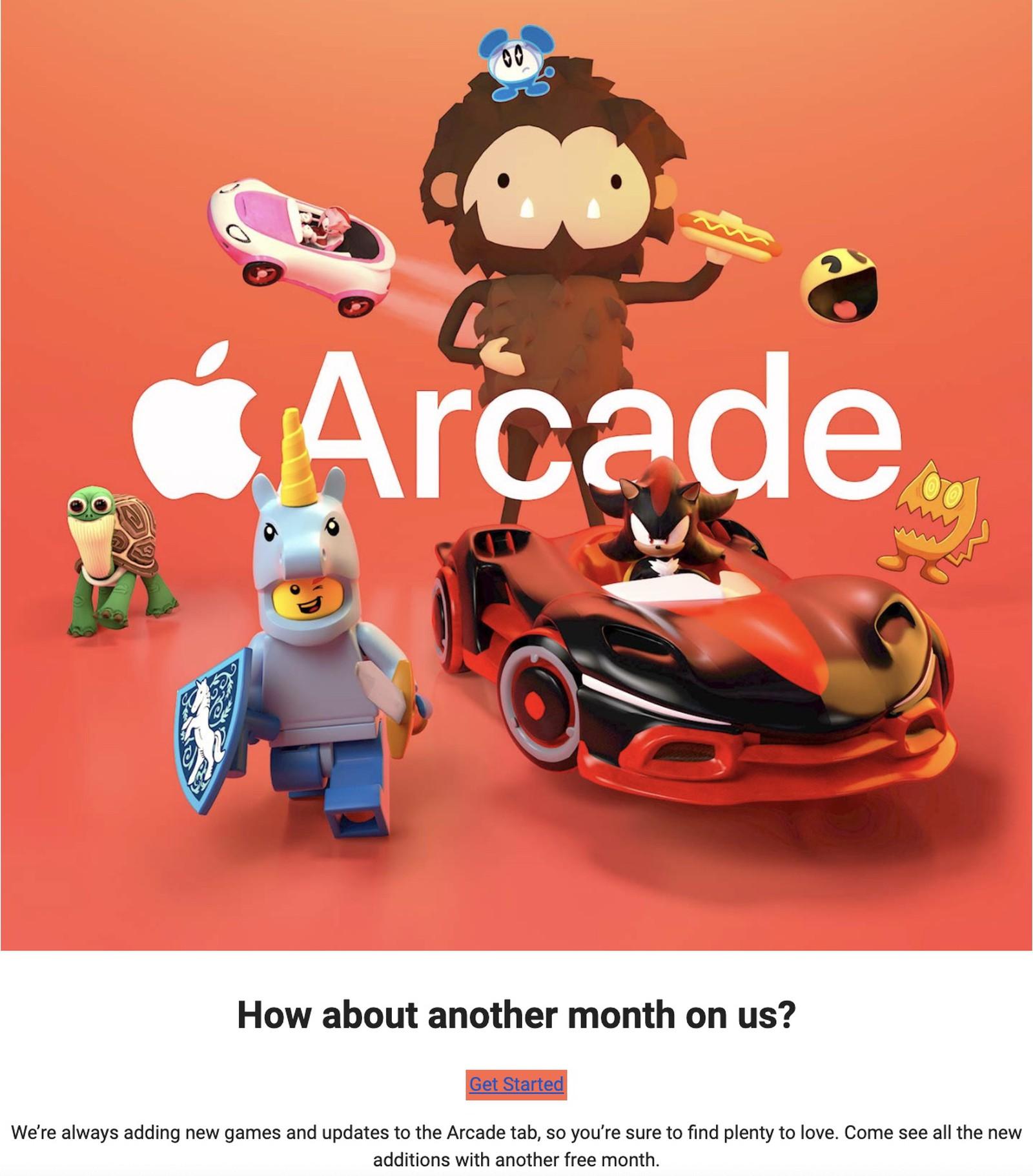 Apple Arcade darmowy miesiąc