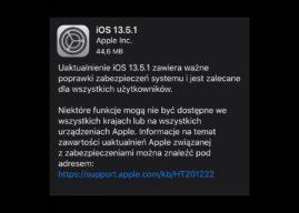 Apple wypuszcza iOS 13.5.1 i iPadOS 13.5.1 z poprawkami zabezpieczeń