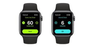 Apple Watch zmiana celów