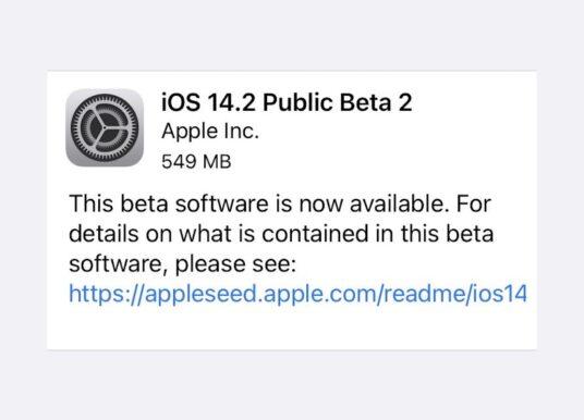 Apple wypuszcza drugie publiczne wersje beta iOS 14.2 i iPadOS 14.2