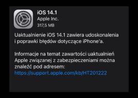 Apple wypuszcza iPadOS i iOS 14.1 z poprawkami wielu błędów