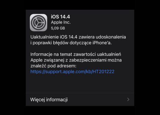 Apple wypuszcza iOS 14.4 i iPadOS 14.4
