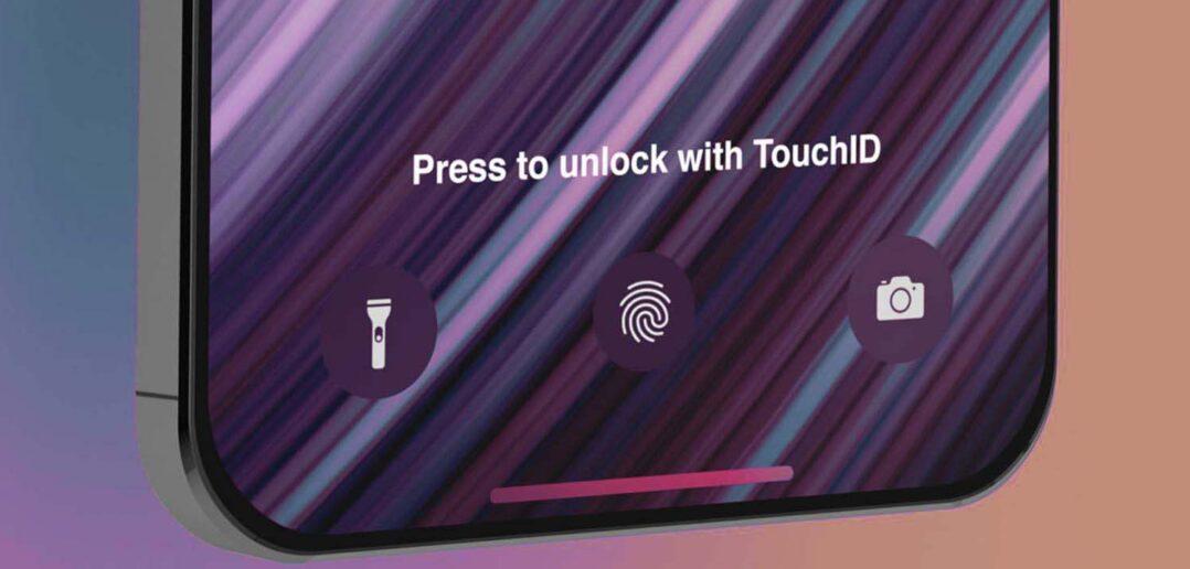 iPhone 13, czytnik odcisków palców w ekranie