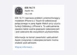 Apple wypuszcza iOS 14.7.1 i iPadOS 14.7.1 z poprawkami błędów