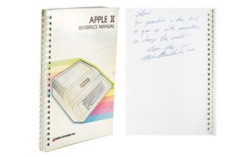 intrukcja Apple II na aukcji