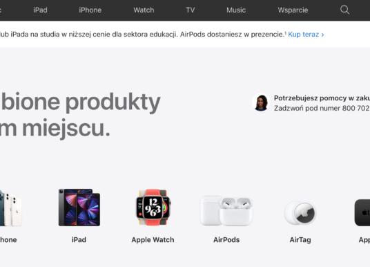 """Strona Apple znów z dedykowaną zakładką """"Sklep"""""""