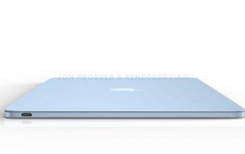 MacBook Air 2022 render