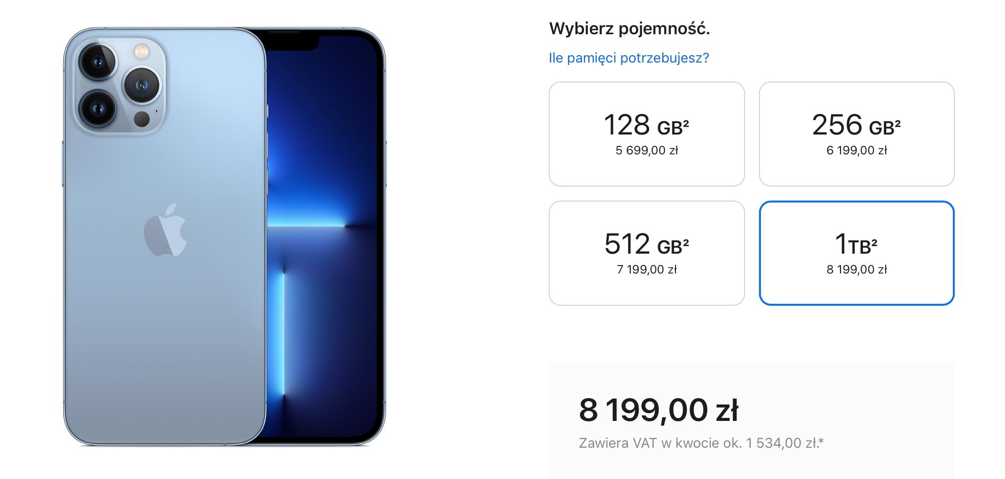 iPhone 13 pro max-1 TB-cena
