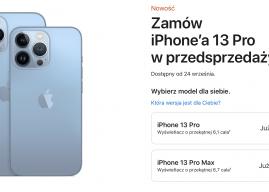 Ruszyła przedsprzedaż modeli iPhone 13