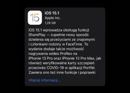 Apple udostępnia oficjalnie iOS 15.1 i iPadOS 15.1